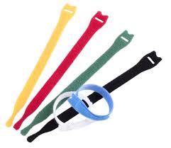 """3//4/"""" X 5/"""" Yellow Velcro® Brand One Wrap® Strap Pack of 25"""
