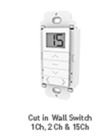 Rollease Cut In Wall Switch Remote Control - One Channel