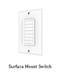 Rollease Surface Mount Switch Remote Control - 5 Channels